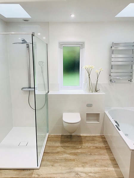 Modern and Light Bathroom Installations from Baptist Bathrooms