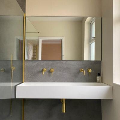 Ensuite Bathroom Refurbishment Northampton Sink and Mirror